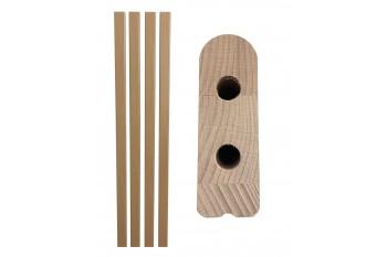 Komplet drewnianych barierek do łóżka rehabilitacyjnego 202 x 9 cm