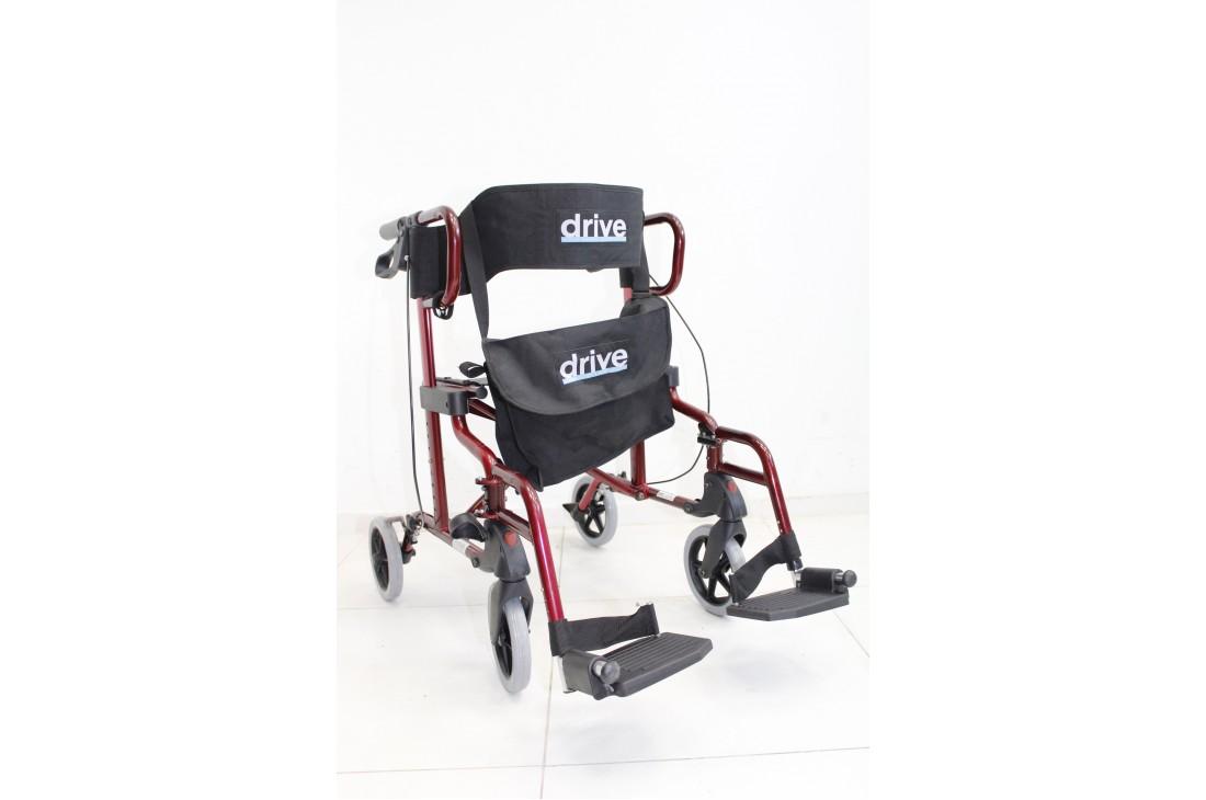 Balkonik rehabilitacyjny czterokołowy + Koszyk | Z opcją wózka