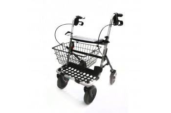 Balkonik rehabilitacyjny czterokołowy, chodzik, rollator + Koszyk + Tacka