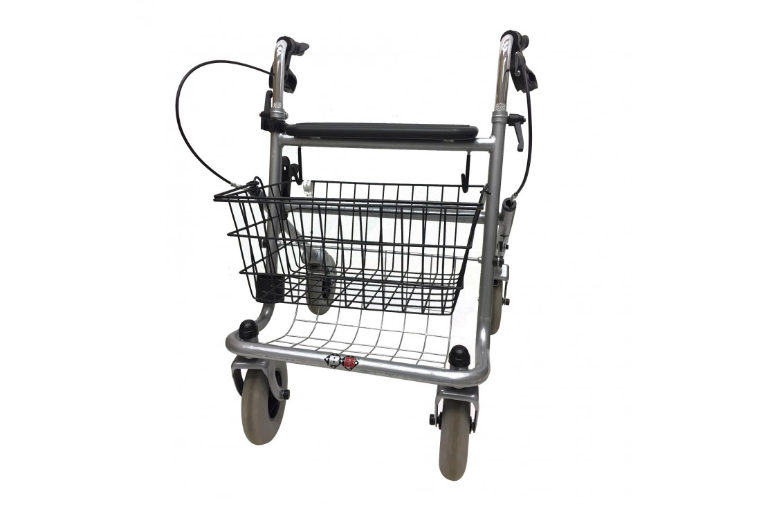 Balkonik rehabilitacyjny czterokołowy, chodzik, rollator + Koszyk
