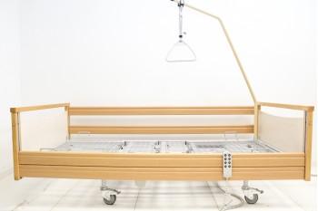 Łóżko rehabilitacyjne, szpitalne, elektryczne, 4-Funkcyjne Erfurt + Wysięgnik