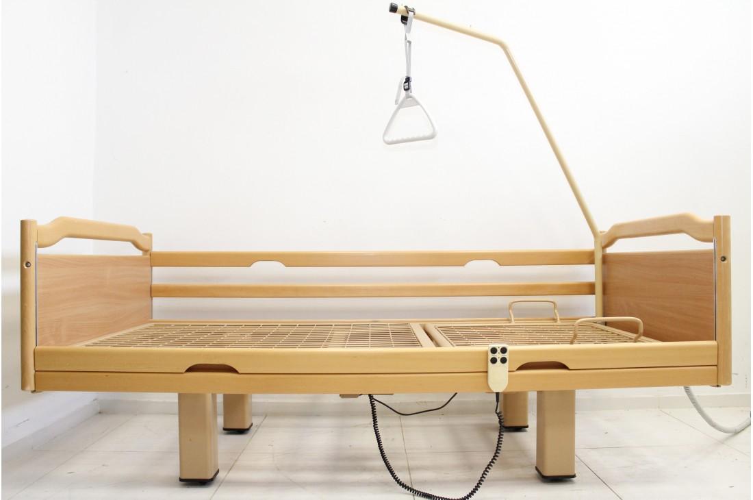 Łóżko rehabilitacyjne, elektryczne, 3-funkcyjne Stiegelmeyer + Wysięgnik