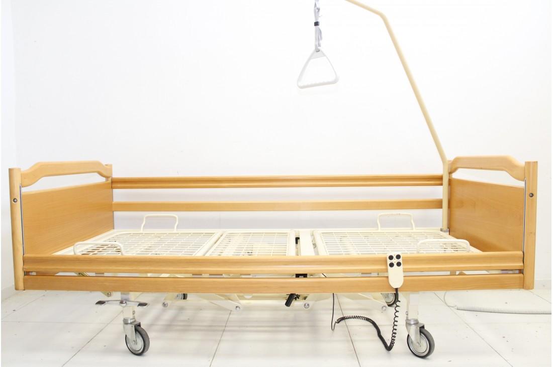 Łóżko rehabilitacyjne, elektryczne, 3-funkcyjne Stiegelmeyer 5025 + Wysięgnik