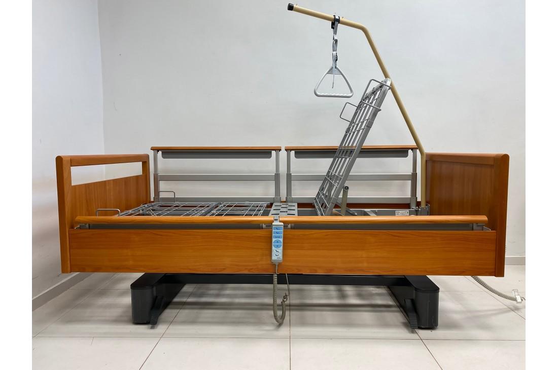 Łóżko rehabilitacyjne, elektryczne, 6-funkcyjne + Wysięgnik - WIBO