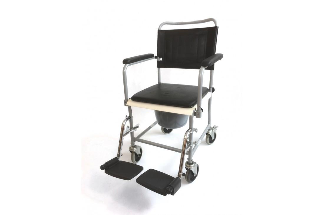 Regenerowany wózek toaletowy z klapą + Wiaderko